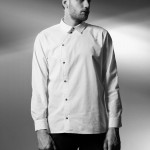Tailored shirt with assymetric buttoning